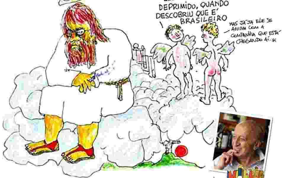 O humorista Danilo Gentili editou uma tira feita pelo próprio Millôr para fazer sua homenagem - Danilo Gentili/Facebook