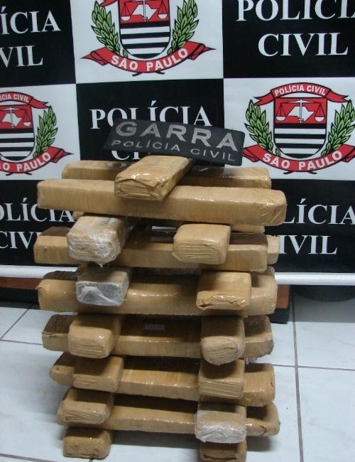 Polícia Civil de São Bernardo do Campo, na Grande São Paulo, apreendeu 27,5 kg de maconha