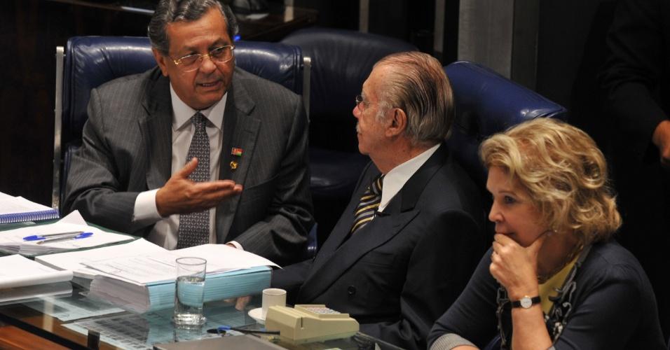 Presidente do Senado, José Sarney, acompanha votação que aprovou a criação das fundações de Previdência Complementar do Servidor Público Federal (Funpresp)