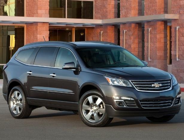 Traverse 2013: jeito de Honda CR-V, VW Touareg, Nissan Pathfinder e Hyundai Santa Fe - Divulgação