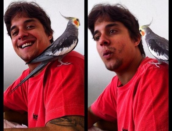 Gulherme Boury mostra seu pássaro de estimação no Twitter (29/3/12)