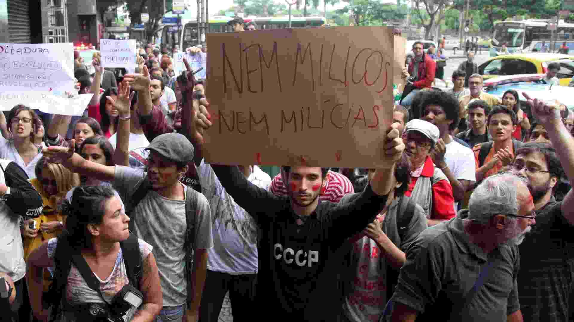Manifestação contra ato militar no Rio de Janeiro - Fernando Maia/UOL