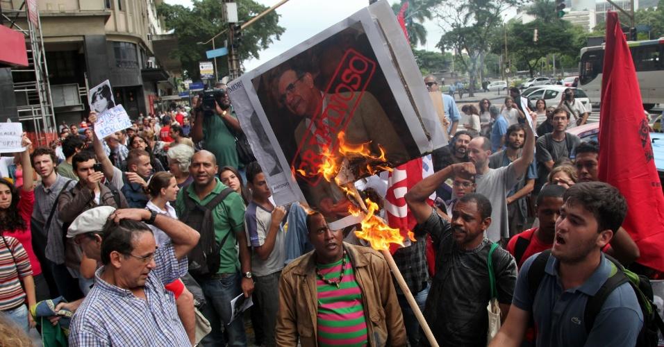 Manifestação contra ato militar no Rio de Janeiro