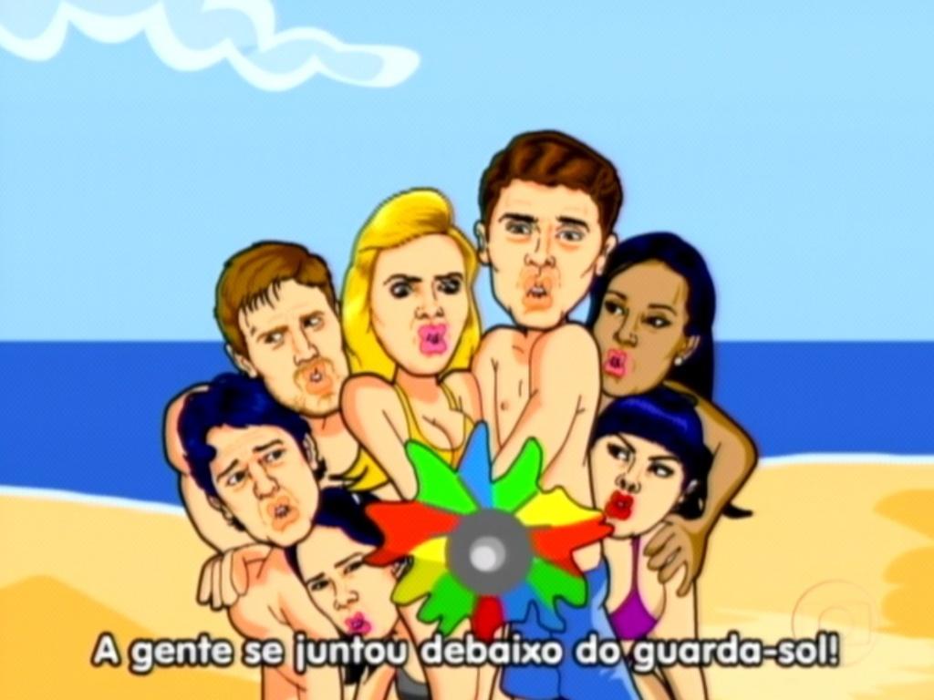 Maurício Ricardo relembra a união dos participantes da Praia (29/3/12)