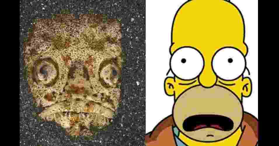 """Um sósia incomum de Homer Simpson foi encontrado pelo fotógrafo Mark Webster no fundo do mar, mais especificamente no Estreito de Lembeh, na Indonésia. Incomum, pois é um peixe, da espécie stargazer. Mark exalta os """"olhos esbugalhados"""", o """"olhar um pouco vago"""" e a """"boca aberta"""" semelhantes a Homer - Reprodução/Mark Webster"""