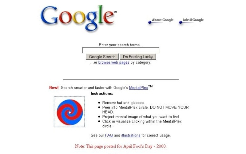 Brincadeira de 1º de abril do Google