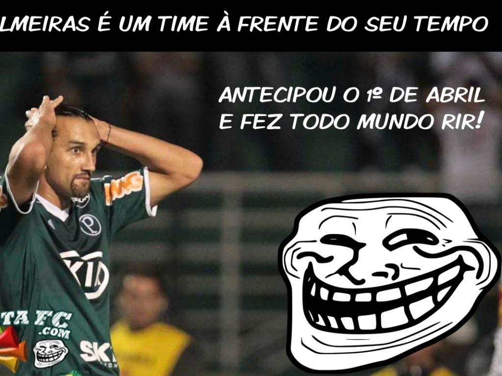 O Palmeiras é um time à frente de seu tempo... antecipou o 1º de abril e fez todo mundo rir!