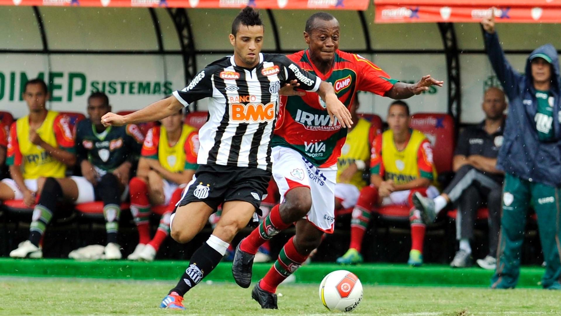 Jovem Felipe Anderson, do Santos, teve mais uma chance para mostar o seu potencial no jogo contra a Lusa