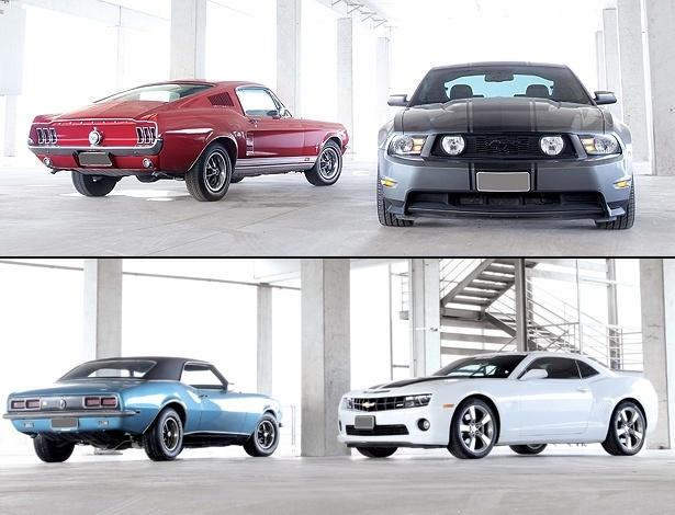 Mustang (alto da imagem) e Camaro conectam sonhos do passado com desejos atuais