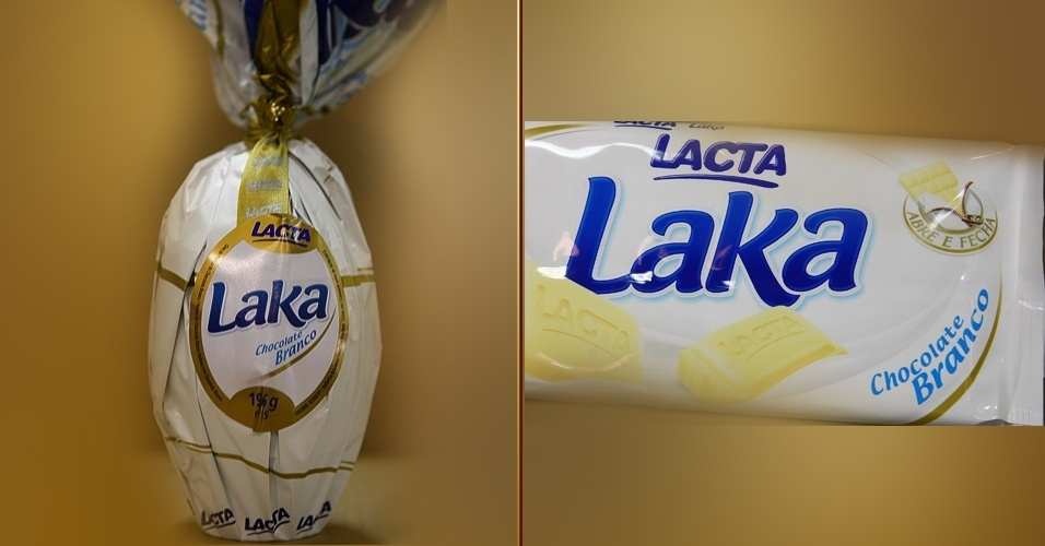 Ovo de Páscoa e barra de chocolate Laka