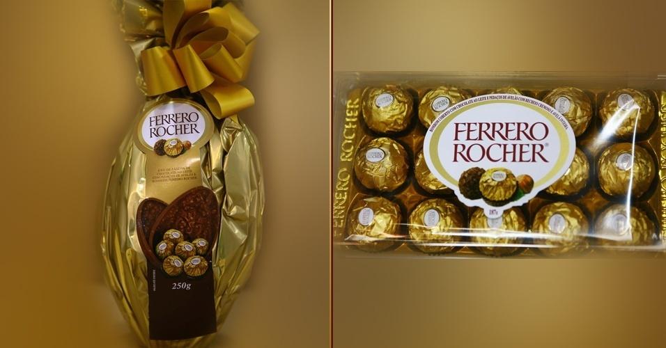 Ovo de Páscoa e caixa de bombons Ferrero Rocher