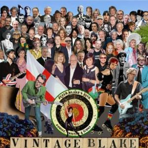 """Para festejar seu aniversário de 80 anos, o artista plástico Peter Blake recriou a lendária capa do disco dos Beatles """"Sgt Pepper""""s Lonely Hearts Club Band"""" - Imagens de Peter Blake, cortesia do Vintage Festival"""