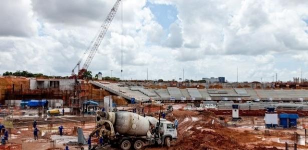 A Arena Amazônia, com 38% das obras concluídas, será palco de quatro confrontos da fase de grupos do Mundial