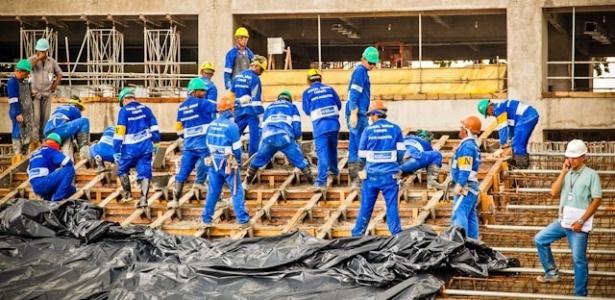 A reforma no Estádio Mário Filho, o Maracanã, no rio de Janeiro, atingiu 39% de avanço físico