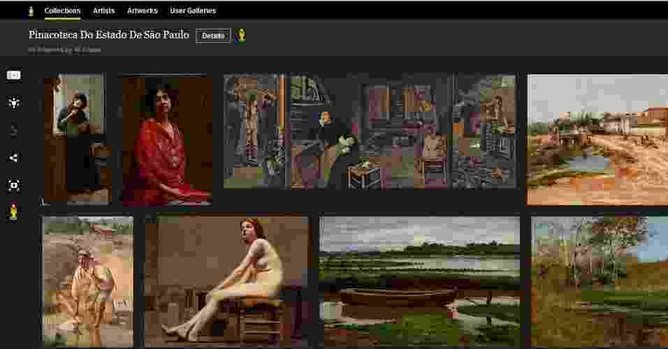 Google Art View Pinacoteca - Reprodução/Google Art View