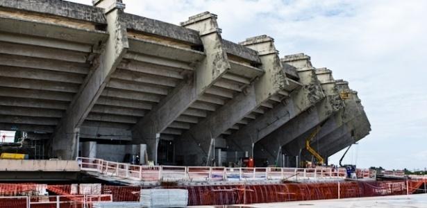 No Castelão, em Fortaleza (CE), 60,44% do projeto de reforma está concluído