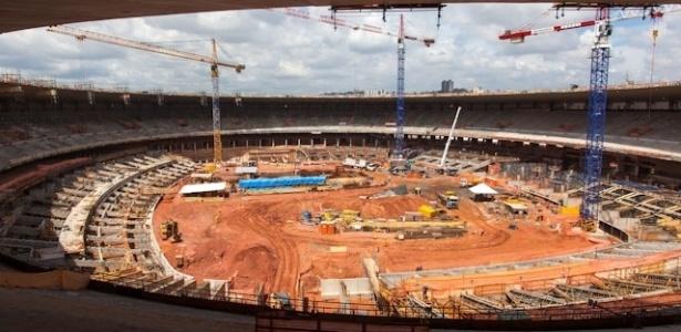 O novo Mineirão, em Belo Horizonte (MG), contará com 64 mil assentos, restaurante com vista para o campo e 80 camarotes