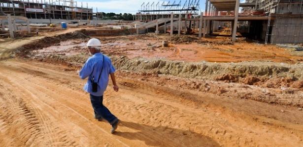 Palco de quatro jogos da Copa do Mundo de 2014, a Arena Pantanal já alcançou 43% de conclusão