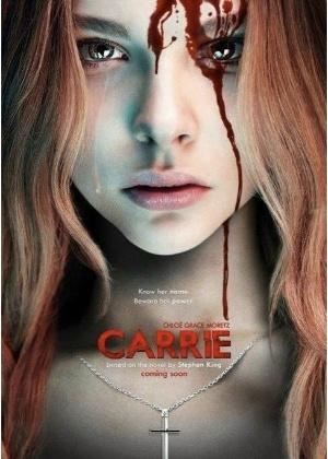 """Chloe Moretz no pôster do remake de """"Carrie, a Estranha"""""""