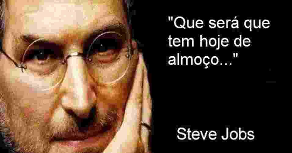 Steve Jobs montagem do Facebook - Reprodução