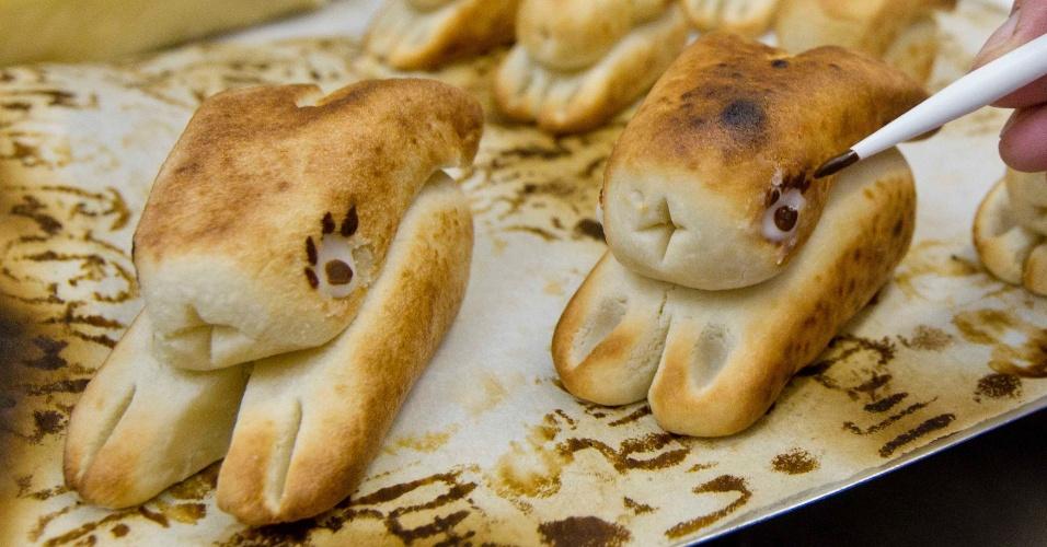 Na Alemanha, uma das tradições de Páscoa é fazer esses sapinhos de marzipã