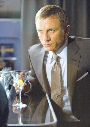 """O ator Daniel Craig em cena do filme """"007 - Quantum of Solace"""", de Mark Forster"""