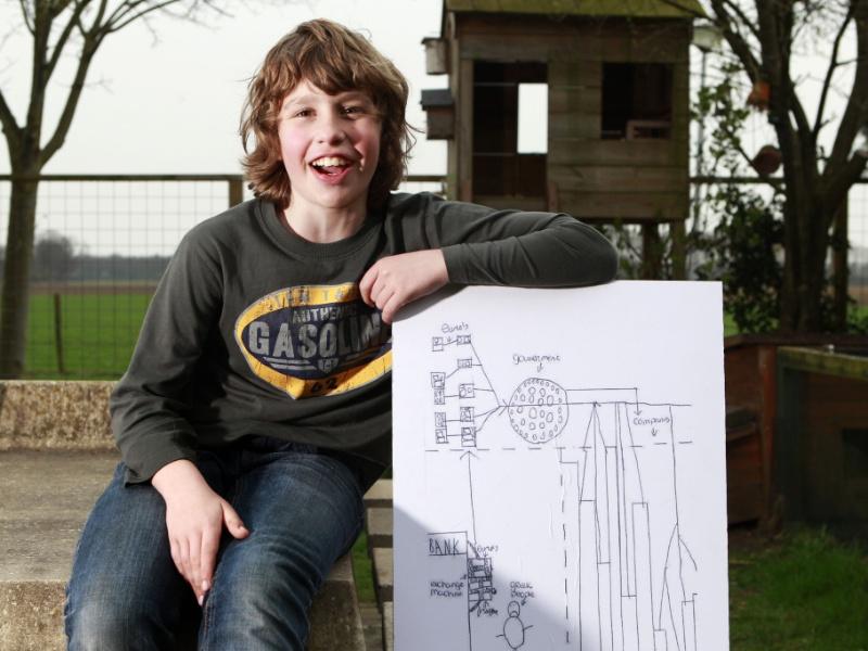 O menino holandês de 11 anos de idade Jurre Hermans ganhou uma menção especial no prêmio de economia Wolfson Economics