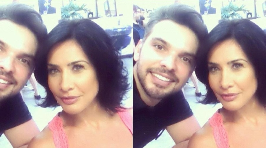 Scheila Carvalho corte os cabelos (4/4/2012)