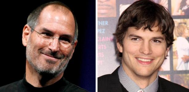 Steve Jobs (esq) será interpretado em filme pelo ator Ashton Kutcher