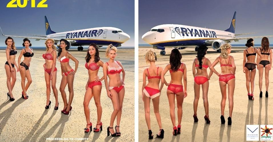 Aeromoças posam para o calendário 2012 da companhia aérea Ryanair