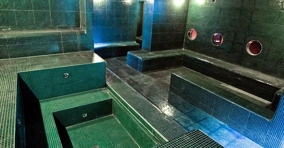 Área em construção no Hotel Chilli Pepper, empreendimento que será inaugurado no fim de abril,no centro de São Paulo, misturando hospedagem para solteiros a atendimento de sauna gay