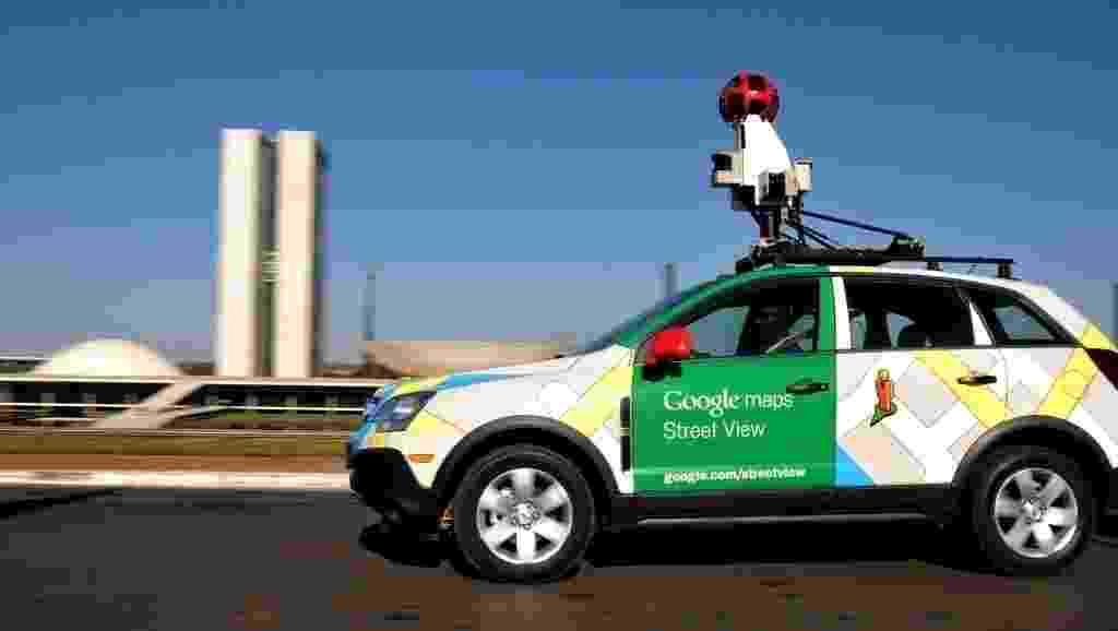 Carro do Google Street View em Brasília (Distrito Federal) - Pedro Ladeira/AFP