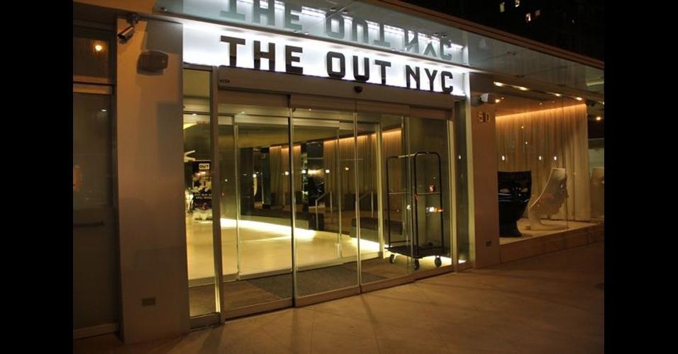 Fachada do Out NYC, inaugurado em março, em Nova York. A obra custou 30 milhões de dólares e inclui uma casa noturna programada para funcionar sete dias na semana, aberta aos hóspedes e turistas da cidade