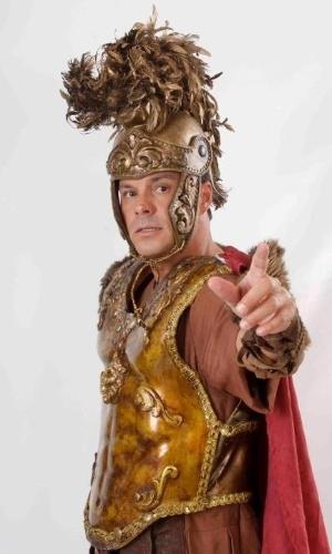 """O ator pernambucano Ricardo Neves caracterizado como Pilatos para a """"Paixão de Cristo"""" de Nova Jerusalém, em Pernambuco"""