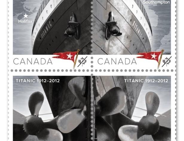 O Correio canadense lançou coleção de selos em comemoração ao centenário do naufrágio do Titanic em 1912