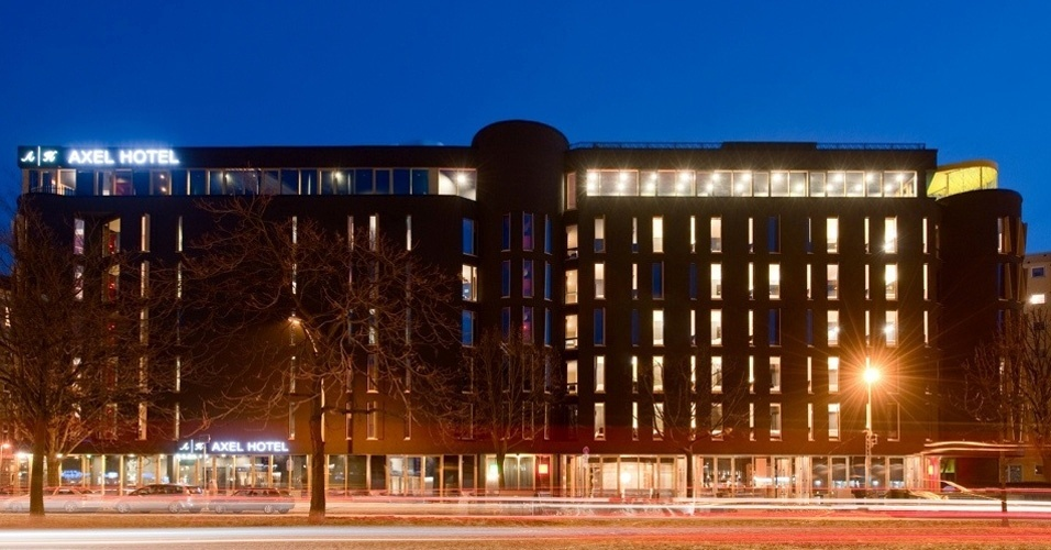 Prédio da rede Axel em Berlim, inaugurado em 2009, o mais novo da cadeia