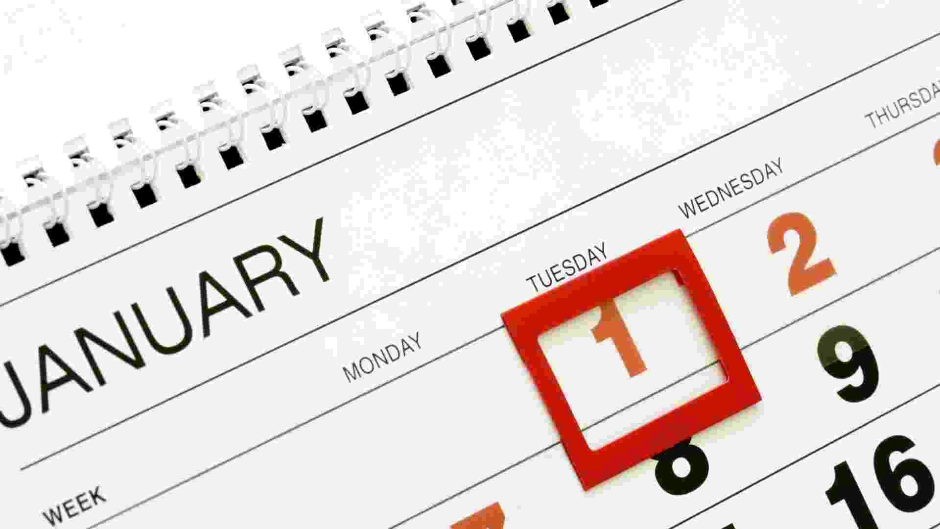 Imagem de calendário, folhinha, dias da semana - ThinkStock