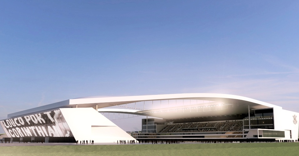 06.04.2012 - Maquete digital da arena do Corinthians
