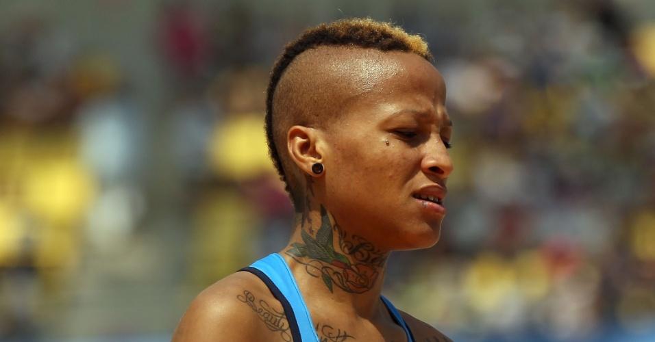 Norte-americana Inika McPherson mostrou todo seu estilo no Mundial de atletismo do ano passado, realizado em Daegu, na Coreia do Sul