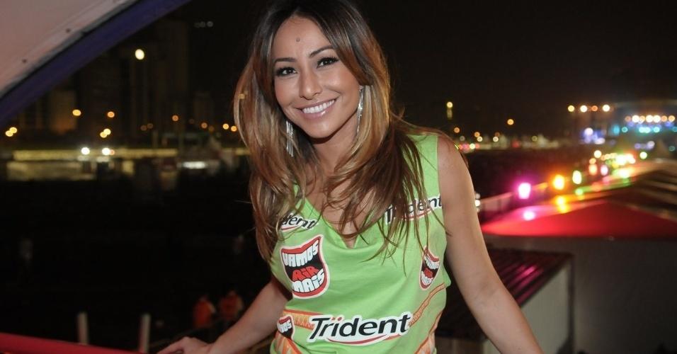 A humorista Sabrina Sato no camarote do Lollapalooza Brasil 2012 (7/4/12)