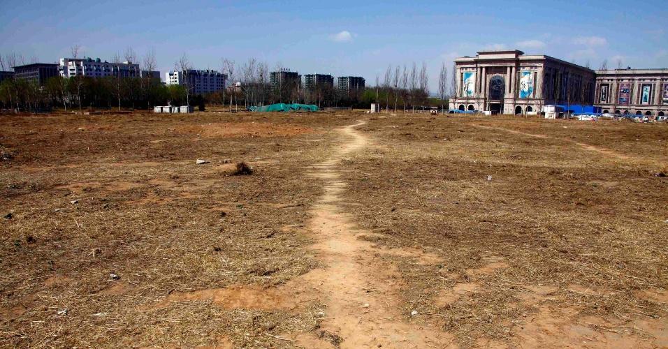 A região do estádio de beisebol dos Jogos Olímpicos de 2008 hoje fica praticamente deserta