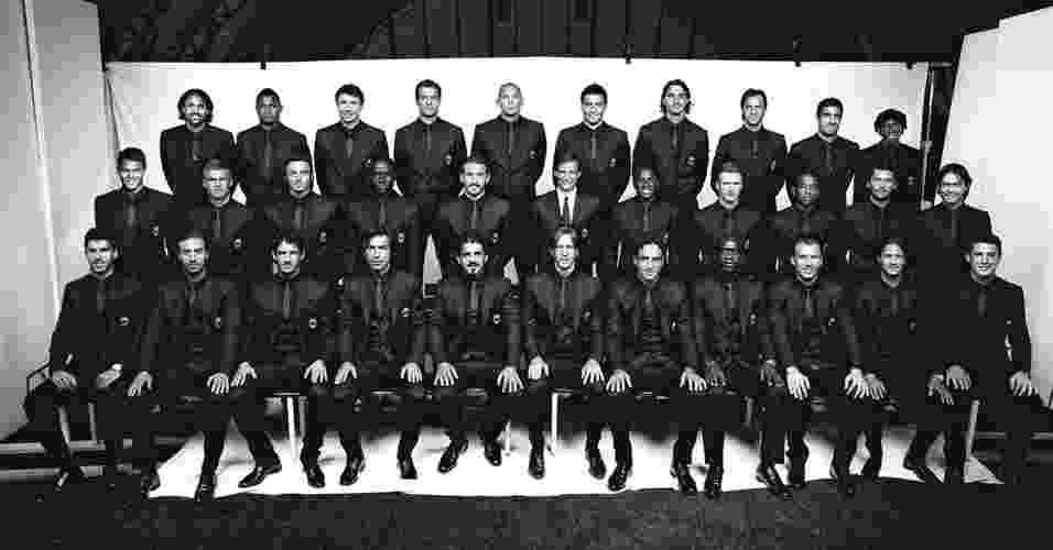 Imagem do livro ?Milan Fashion Soccer Players Portraits?, parceria da marca italiana Dolce&Gabbana e o Milan - Marco Falcetta/Reprodução
