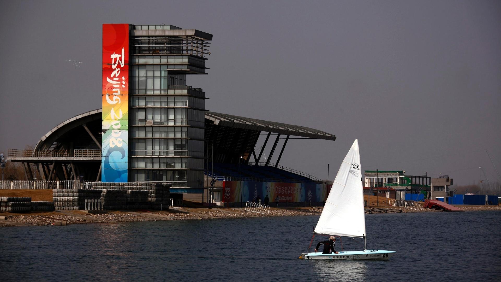Marina que abrigou as provas de remo e canoagem dos Jogos de Pequim hoje fica abandonada e recebe poucos barcos
