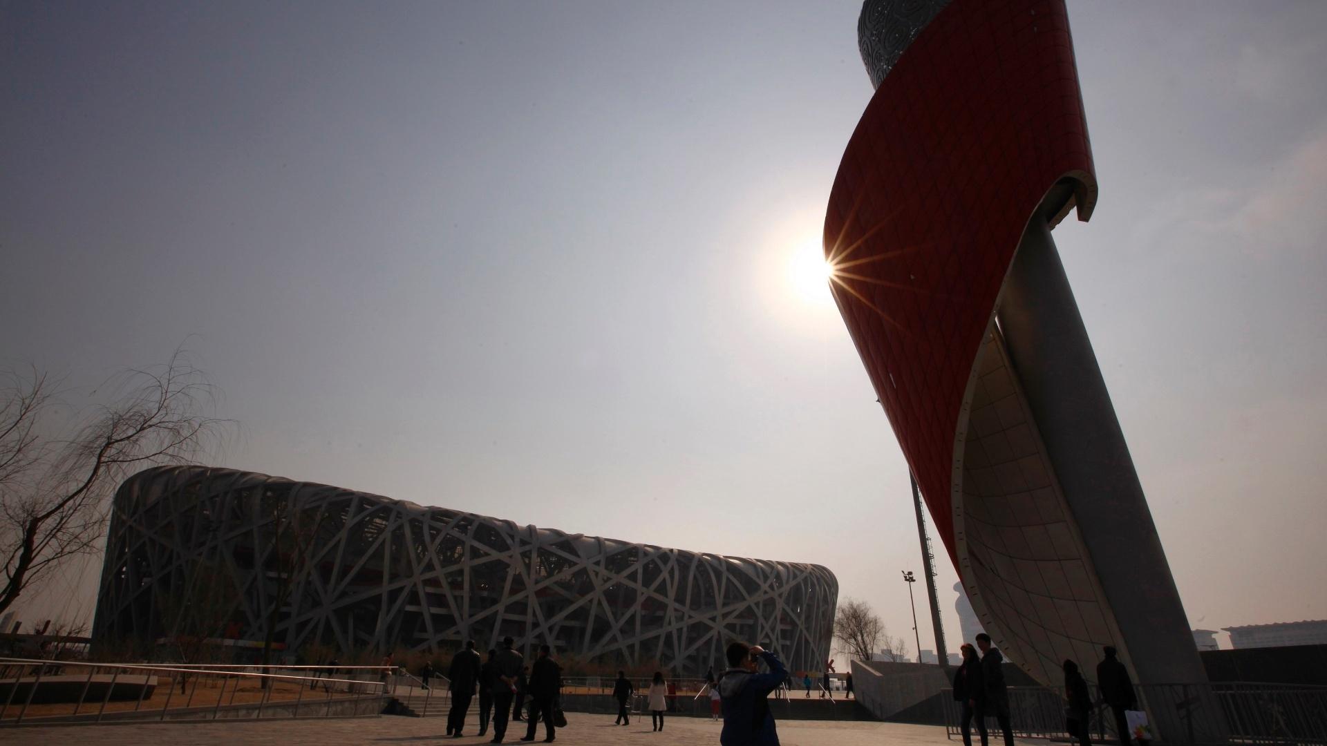 O Ninho de Pássaro, estádio olímpico que foi a principal estrutura erguida para os Jogos de Pequim, hoje quase não recebe eventos esportivos e vive de turismo e eventos culturais
