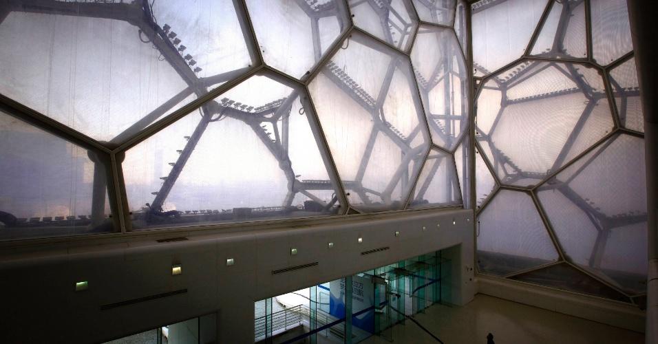 Outra sede bastante badalada dos Jogos de Pequim foi o Cubo d'Água, mas a estrutura hoje também é pouco utilizada e teve um grande prejuízo financeiro em 2011