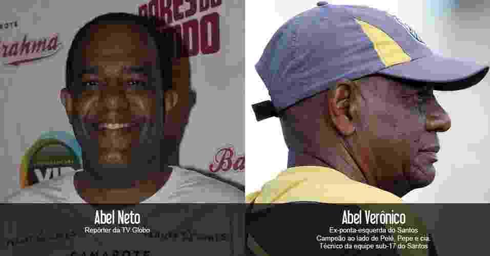 Ex-campeão no histórico time do Santos, Abel Verônico é pai do repórter esportivo da rede Globo - Arte UOL