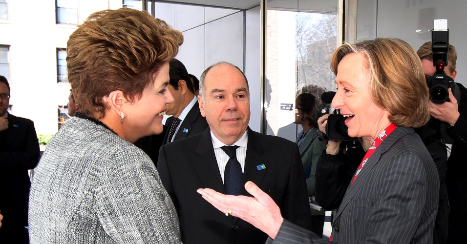 A presidente Dilma Rousseff foi recebida por Susan Hockfield, presidente do Massachusetts Institute of Technology (MIT)