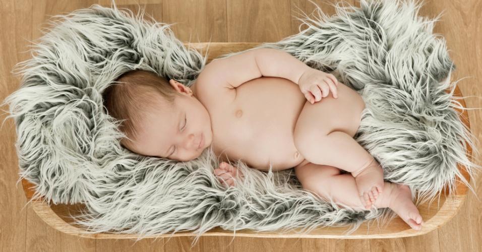 Foto de recém-nascido, feita pela fotógrafa Daniela Margotto
