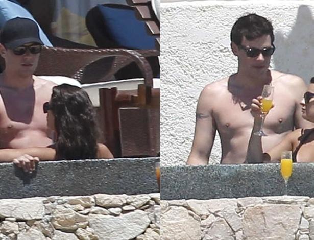 """Lea Michele e Cory Monteith, que interpretam o casal Rachel e Finn na série """"Glee"""", passam férias em clima de intimidade em um hotel em Cabo San Lucas, no México. Apesar de serem vistos juntos com frequência, os dois não confirmam o namoro (10/4/12)"""
