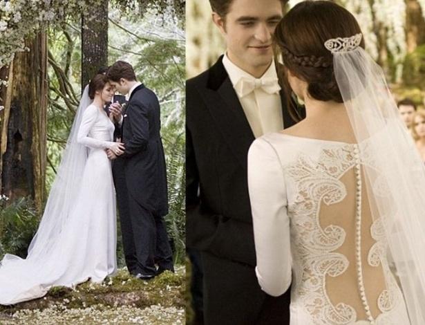 "Noivas de cinema - Kristen Stewart, em ""Amanhecer Parte 1"""